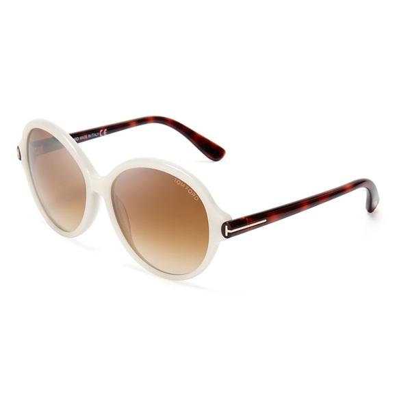 faa224ed9e44 Tom Ford Milena White Pearl Round Sunglasses. M 5be8d2f303087ccfea613a13.  Other Accessories ...